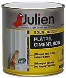 Julien 174001 Sous couche J4 Peinture pour plâtre/ciment/bois 0,50 L Blanc Mat