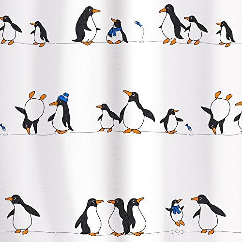 tatkraft-penguins-cortina-ducha-180x180-cm-textil-poliester-impermeable-12-anillos