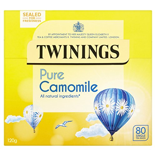 Twining Pure Camomile Tea Bags 120 g, 80 Tea Bags, (pack of 4, 320 teabags in total)