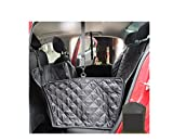 Black Manba Nonslip Waterproof Travel Dog Seat Covers Back Seat Cover With Car Safety Seat Belt,Dog Car Seat Cover With Extra Side Flaps And Hammock Convertible Universal Pet