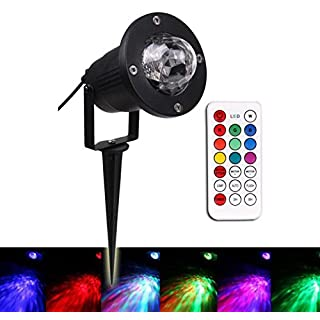 ANGTUO Outdoor Waterproof Water Wave Lights Remote Control 7 Colors LED Ocean Atmosphere Lamp for Stage, Lawn, Festival, Event, Party, Wedding, Christmas