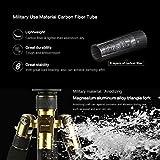 Trípode Fibra de Carbono - K&F Concept TC2534 Trípode Ligero Profesional Unipod Monopod con Rótula de Bola Placa Rápida Liberación Monopié para Canon Nikon Sony GoPro Cámara DSLR y DV