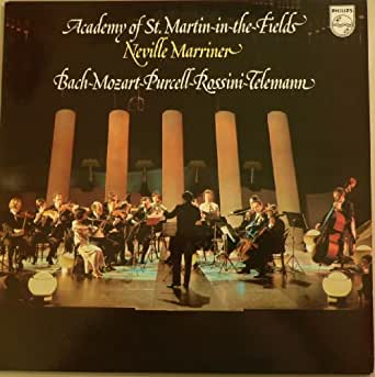 Neville Marriner. Bach Mozart Pucell Rossini Telemann. Vinyl LP.