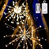 sakj-d Urlaub Dekorieren Lampe LED Solarenergie Lampe String Feuerwerk Lampe String Akku Lampe Hochzeit Laterne Dekoration Lampe Im Freien, (Solarenergie Farblicht)