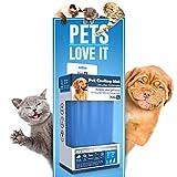 PETIC - Groß 50x90cm Kühlmatte für Hunde Katzen Haustiere | Kältematte für hunde | Selbstkühlende Hundedecke | Kühlkissen Hund Klappbare Kühldecke Matte | Large Self Cooling Gel Mat for Dog Cat Pets