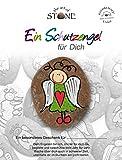 The Art of Stone - Schutzengel für Dich -Serie 1 / Motiv 3- Glücksstein mit Engel - Bemalter Naturstein + Unikat- als Dekostein, Glücksbringer oder Geschenk