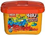 Mega Construx Caja de 480 piezas y bloques de construcción para niños +3 años (Mattel GJD23)
