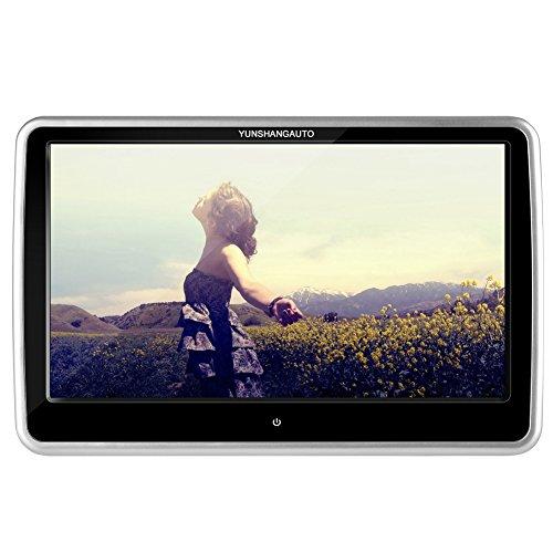 Yunshangauto® Poggiatesta DVD Player 10.1 pollici Toccare Schermo Universale Auto