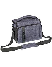 """PEDEA """"Fashion"""" SLR-Kameratasche mit Schultergurt und Zubehörfächer, Gr. XL grau"""