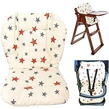 Cojín para silla de bebé alta, cojín para asiento de bebé cojín para silla alta