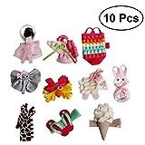 frcolor 100Tier-Muster Haar Clips Boutique Süße Haarnadeln Haarspange Zubehör für Mädchen Babys