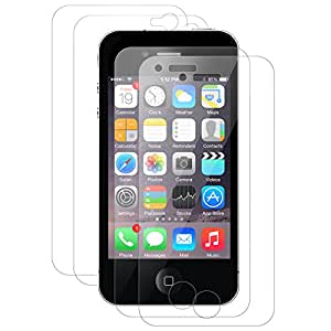 4 x iGard iPhone 4 4s Klar Folie Crystal Clear Schutzfolie 2 x Vorderseite + 2 x Rückseite