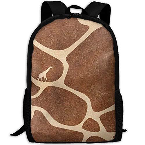 Wfispiy Giraffe 'Skin Travel High School Rucksäcke Lightweight Bag für College Girls Womens -