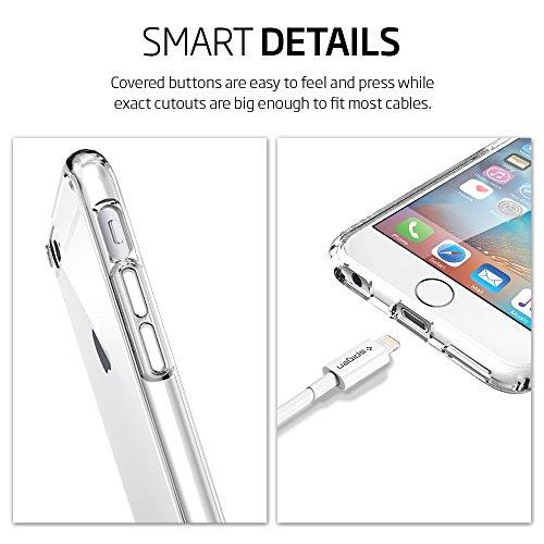 Spigen SGP10971 Tough Armor Custodia per iPhone 6/4.7, Argento (Satin Silver) Trasparente (Crystal Clear)