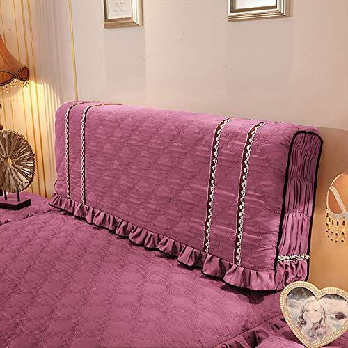 de Decoration Protector Staubschutz Stoff Stepp Bed Headboard Staubdicht Waschbar Für Schlafzimmer Dekor,Beanpaste-150 * 65cm ()