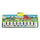 Zerodis Klavier Matte Cartoon Verschiedene Tiere Musikteppich Keyboard Teppich Pädagogisches Spielzeug Geschenk für Kinder Baby