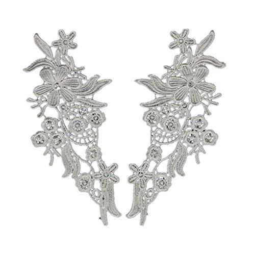 1pair Vintage Spitzenkragen Brautkleid Spitze Applique Bestickte Spitze Stoff (Brautkleider Design)