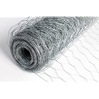 Easipet Chicken Wire Fencing 50mm hole 3 widths 25m length roll (1200mm) 21570 11