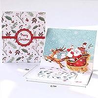 3D Pop Up Karte Weihnachten LED Musik Gruß Baby Geschenk Urlaub Happy New Cards