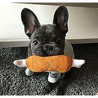 ROYALE DOG Plush Bone Soft Pet Chicken Legs Shape Sound Play Toys for Dog Puppy