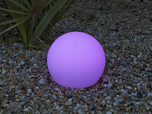 Newgarden JLE3686001 Boule Lumineuse Extérieure, Plastique, 9 W, Multicolore, 20 x 15 cm