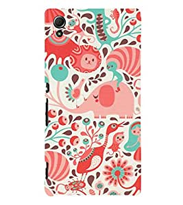 Wheels Duck 3D Hard Polycarbonate Designer Back Case Cover for Sony Xperia Z3+ :: Sony Xperia Z3 Plus