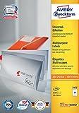 Avery Zweckform 3475 Adressetiketten (A4, Papier matt, 2,400 Etiketten, 70 x 36 mm) 100 Blatt weiß
