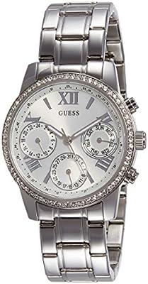 Guess W0623L1 - Reloj de lujo para mujer, color plateado