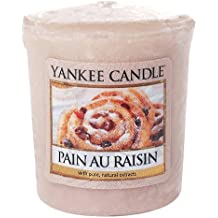 Yankee Candle Samplers Candele Votive Pain Au Raisin, Cera, Rosa, 4.4 x 4.2 x 5.3 cm