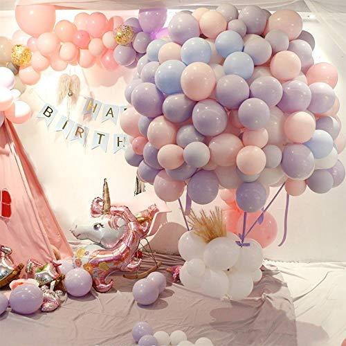Latex-Luftballons in Macaron-Farbe, für Hochzeit, Geburtstag, Party, Abschlussfeier, 2019, Heliumballon, Jubiläum, Dekoration, Ballon-Ballon, 100 Stück