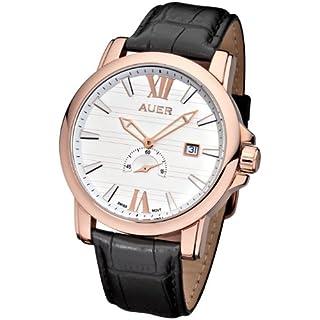 AUER Classic Collection ZU-1139-WDBBRGC Mens Wristwatch Swiss Ronda