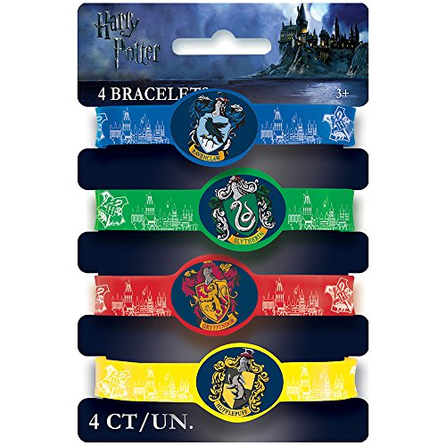 Harry Potter Party Favor Stretchy Bracelets [4 Per Pack]