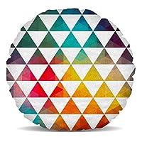 Cool design et tendance avec des triangles géométriques en un arc-en-ciel teintes allant du jaune au rouge et bleu.Ce beau coussin de décoration d'intérieur est si doux et moelleux, vous ne peut pas résister caressant elle. Un excellent ajout à toute... [Méridienne]