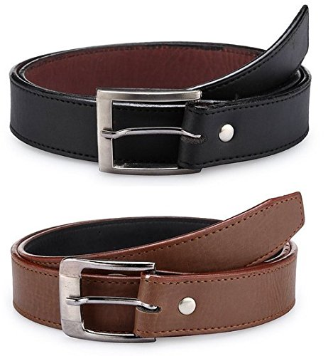 Sylan men's formal belts combo (Size 34)  available at amazon for Rs.180