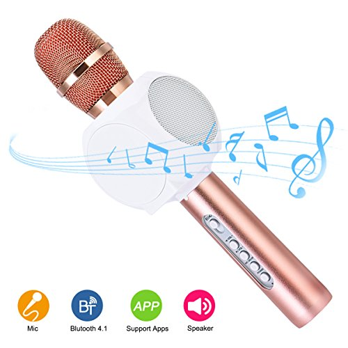 wireless-bluetooth-karaoke-microphone-speakers-hurrise-mic-player-recorder-with-phone-holder-echo-no