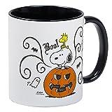 CafePress – Peanuts Snoopy Peanuts Snoopy Sketch Kürbis Tasse – Einzigartige Kaffeetasse Small White/Black Inside