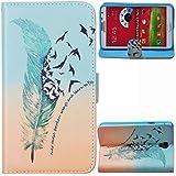 Voguecase® Para Samsung Galaxy Note 3 Neo Lite N7505,Funda Carcasa Cuero Tapa Case Cover(Pluma Verde 02) + Gratis aguja de la pantalla stylus universales