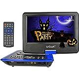 """ieGeek 11"""" Tragbarer DVD/CD/MP3 Player, mit 9-Zoll schwenkbaren Bildschirm,mit 3-4 Stunden Built-In-Akku, USB/SD-Kartenleser, AC/DC-Adapter,Blau"""