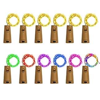 ZesNice-12x-20-LED-Flaschenlicht-Korken-mit-Batterie-2M-Flaschen-Licht-Flaschenlichterkette-Flaschenbeleuchtung-Kupferdraht-Lichterkette-Weinflasche-Flaschen-DIY-Weihnachten-Hochzeit-Party-Deko