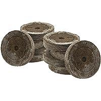 50x Jiffy original, con 41 mm para el cultivo de esquejes y plantas de semilleros, tierra de siembra, tierra de turba, tabletas de turba, incluye abono Greenception en distintas cantidades 100g