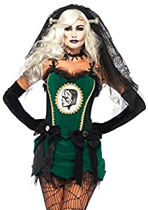 Leg Avenue- Mujer, Color negro y verde, Medium (EUR 38-40) (8544602179)