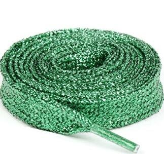 Homgomco 1 Paar Flache Schnürsenkel Turnschuhe flach (Green)