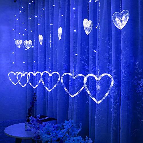 �rmig Hängen Vorhang Beleuchtung Schnur Netz Weihnachten Zuhause Party Zuhause Dekor (Blau) ()