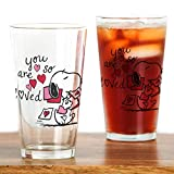 CafePress–Snoopy–You Are So Loved–Pint-Glas