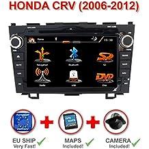 """RADIO GPS 2DIN 7"""" HONDA CRV 2006-2012. CD, DVD, USB, SD, BLUETOOTH, MANOS LIBRES. A2DP, MP3, MP4, MPG, XVID, MKV H264... CON PANTALLA TÁCTIL + CÁMARA TRASERA + MAPAS DE EUROPA INCLUIDOS"""