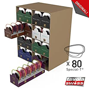 tavolaswiss t box 80 distributeur de capsules 80 special t et carton solide de haute qualit. Black Bedroom Furniture Sets. Home Design Ideas