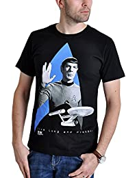 Star Trek Men T-Shirt Logo Enterprise Black Cotton