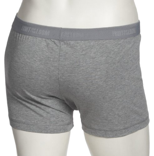 Fruit of the Loom Shorty 2 Pack 172142 Herren Unterwäsche/ Shorts Hellgrau