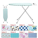KingSaid Ironing Board Adjustable Ironing Board Step Hight with Steam Iron Rest Color
