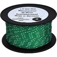 50m Maurerschnur 1,5mm Schnur Leine 40kg grün weiß Poyester PES Lot Richtschnur Fliesenschnur